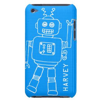 Caisse bleue d'amusement et blanche de contact d'i coque iPod touch