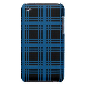 Caisse (bleue) de contact d'iPod de bois d'ébène d Coque iPod Touch
