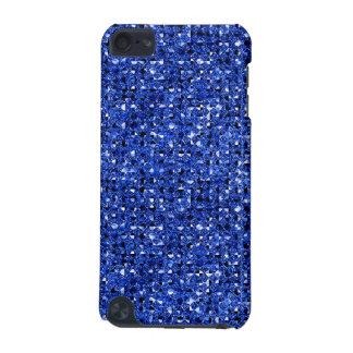 Caisse bleue de contact d'iPod d'effet de paillett Coque iPod Touch 5G