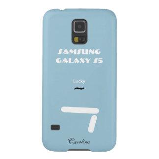 Caisse bleue de la galaxie S5 de la Caroline Coque Galaxy S5