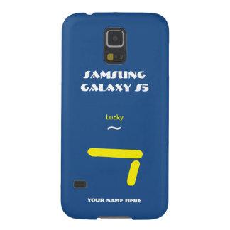 Caisse bleue de la galaxie S5 de Samsung 7 Coques Pour Galaxy S5