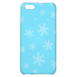 Caisse bleue de l'iPhone 5 C de flocon de neige d' Étui iPhone 5C