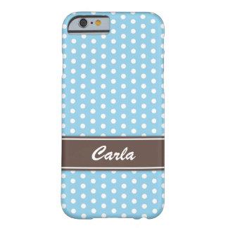 Caisse bleue et blanche de l'iPhone 6 de pois