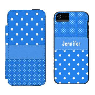 Caisse bleue et blanche de portefeuille de coque-portefeuille iPhone 5 incipio watson™