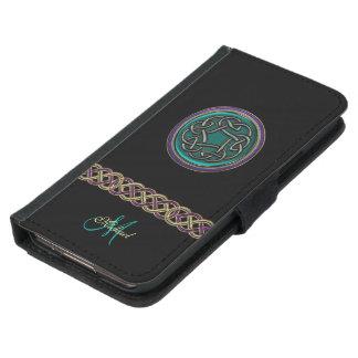 Caisse celtique de portefeuille de galaxie de