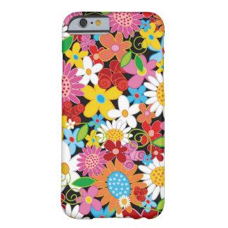 Caisse colorée de l'iPhone 6 de jardin de fleurs d Coque Barely There iPhone 6