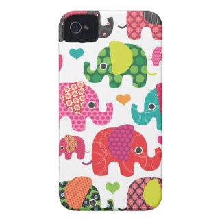 Caisse colorée de mûre de motif d'enfants d'élépha étui iPhone 4