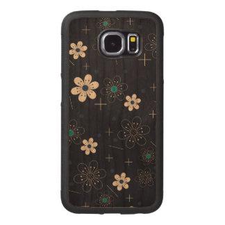 Caisse de butoir de la galaxie S6 de Samsung de Coque De Téléphone En Bois