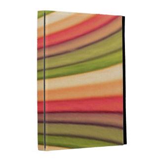 Caisse de folio d iPad d art d arc-en-ciel Coque iPad