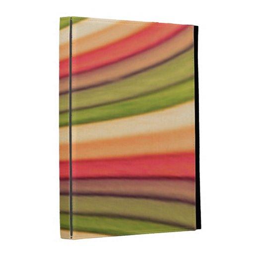 Caisse de folio d'iPad d'art d'arc-en-ciel Coque iPad