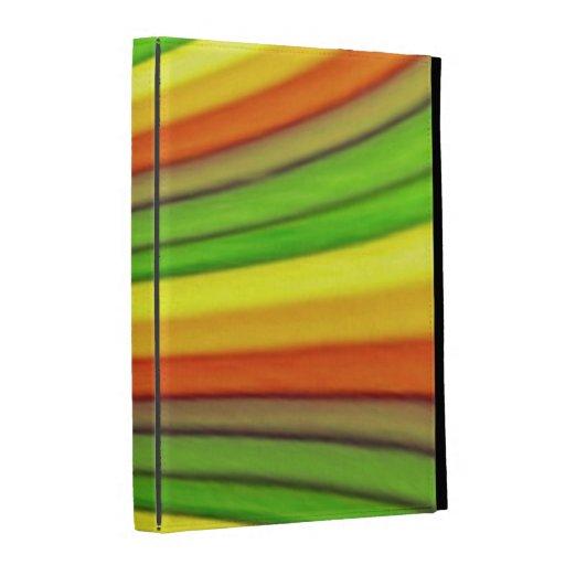 Caisse de folio d'iPad d'art d'arc-en-ciel Coques iPad