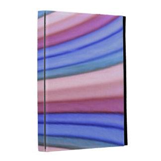 Caisse de folio d'iPad d'art d'arc-en-ciel Étuis iPad Folio