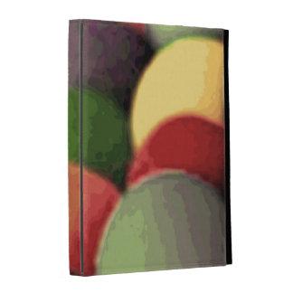 Caisse de folio d'iPad d'art d'arc-en-ciel Étui iPad Folio