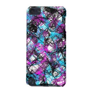 Caisse de noir, bleue et pourpre d'éclaboussure coque iPod touch 5G