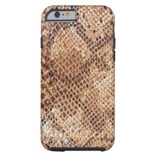 Caisse de peau de serpent de python coque iPhone 6 tough