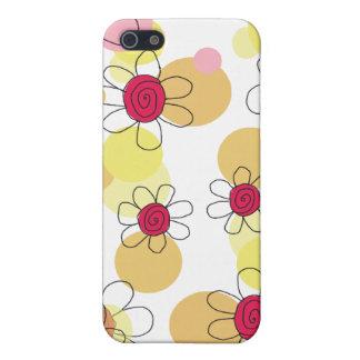 Caisse de point de fleurs et de bulles d amusement étuis iPhone 5
