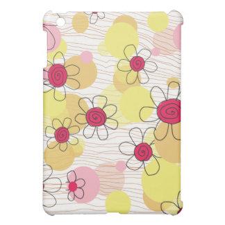Caisse de point de fleurs et de bulles d'amusement coques pour iPad mini