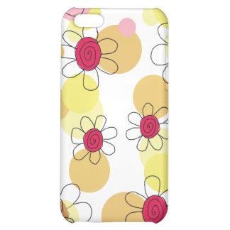 Caisse de point de fleurs et de bulles d'amusement coques pour iPhone 5C