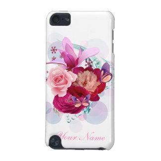 Caisse de point du décor 12 de fleur coque iPod touch 5G