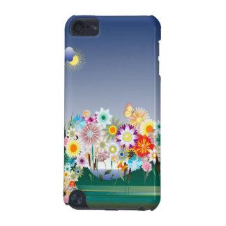 Caisse de point du décor 14 de fleur coque iPod touch 5G