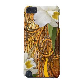 Caisse de point du décor 3 de fleur coque iPod touch 5G