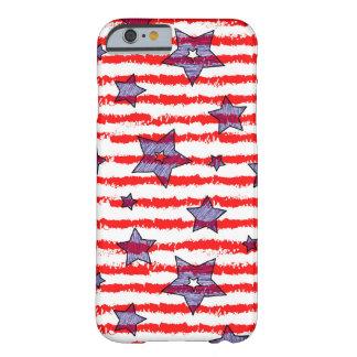 Caisse dénommée de drapeau américain coque iPhone 6 barely there
