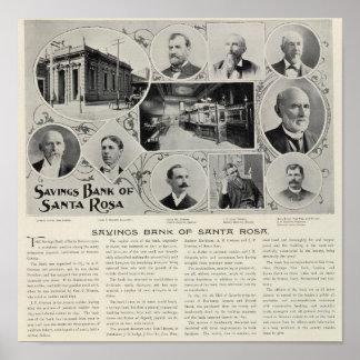 Caisse d'épargne de Santa Rosa, la Californie Poster
