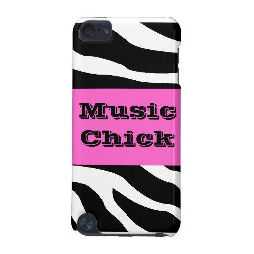 Caisse d'iPod de musique de zèbre