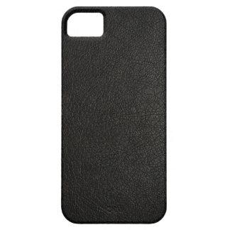 Caisse en cuir noire de l'iPhone 5s de Faux Coque iPhone 5