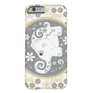 Caisse florale jaune grise de l'iPhone 6 d'objet s