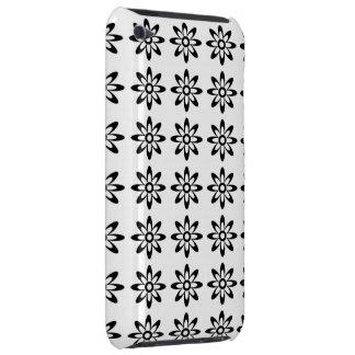Caisse florale noire et blanche de contact d'iPod