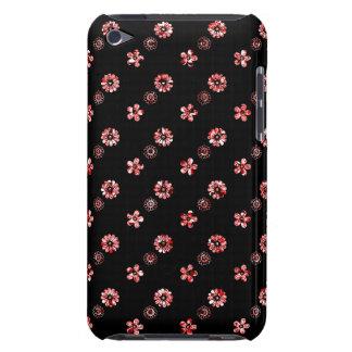 Caisse florale noire et rouge de contact d'iPod d' Coque iPod Case-Mate