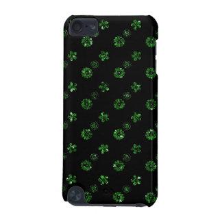 Caisse florale noire et verte d'iPod d'effet de pa Coque iPod Touch 5G