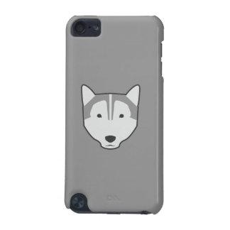 caisse grise de contact d'iPod de loup Coque iPod Touch 5G