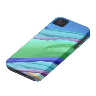 Caisse iPhone4 abstraite de soies en pastel Coques iPhone 4 Case-Mate