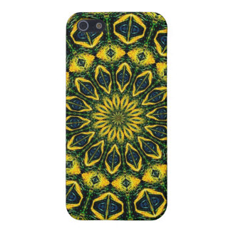 Caisse iPhone4 psychédélique de tournesol iPhone 5 Case