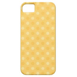 Caisse jaune de téléphone de Polkadot Étui iPhone 5