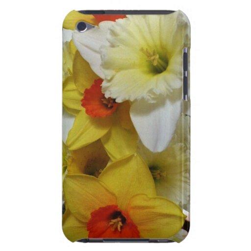 Caisse jaune et orange de contact d'iPod de bouque Étui iPod Touch