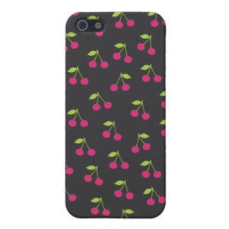 Caisse mignonne de fruit de motif de cerise iPhone 5 case