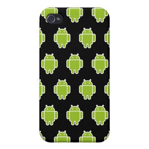 Caisse noire de l'iPhone 4 d'androïdes iPhone 4 Case