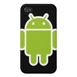 Caisse noire de l'iPhone 4 de Bugdroid Coque iPhone 4