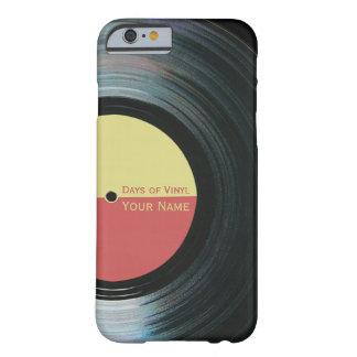 Caisse noire de l'iPhone 6 d'effet de disque vinyl Coque Barely There iPhone 6