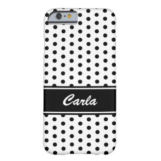 Caisse noire et blanche de l'iPhone 6 de pois