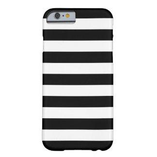 Caisse noire et blanche de l'iPhone 6 de rayures a Coque Barely There iPhone 6