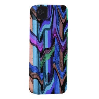 Caisse onduleuse colorée de l'abrégé sur iPhone4 a Étuis iPhone 4