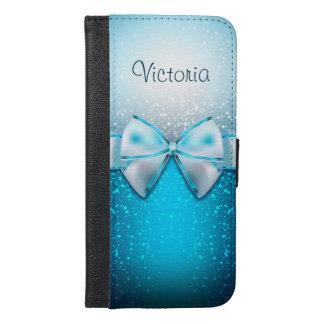 Caisse plus de portefeuille de l'iPhone 6 bleus