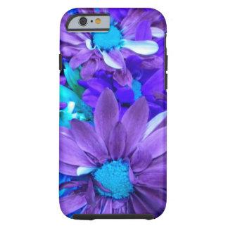 Caisse pourpre de l'iPhone 6 de bouquet de turquoi