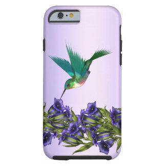 Caisse pourpre de l'iPhone 6 de colibri de violett