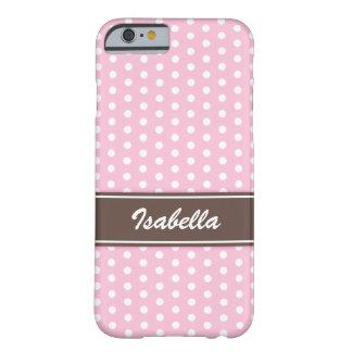 Caisse rose et blanche de l'iPhone 6 de pois