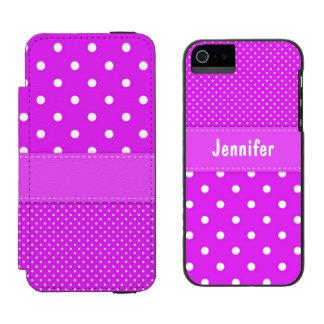 Caisse rose et blanche de portefeuille de l'iPhone Coque-portefeuille iPhone 5 Incipio Watson™